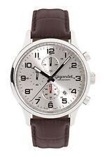 Gigandet Herrenuhr Red Touch Uhr Armbanduhr Leder Silber Braun G51-003