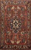 Antique Floral Traditional Hand-knotted Area Rug Wool Oriental Foyer Carpet 5x7