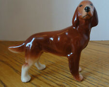"Irish Setter, Vintage Porcelain  Dog Figurine made by Melba Ware 4-3/4"" x 6"""