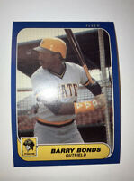 🔥⚾️ 1986 Fleer Update BARRY BONDS Rookie Card #U14 Pittsburg Pirates NRMT