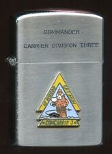 1960 USN Carrier Division 3 Commander Lighter by Vulcan with 2-Star Admiral Flag