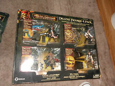 pirates of the caribbean deluxe four pack set mib rare davey jones jack sparrow