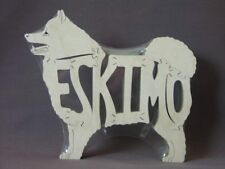 American Eskimo Wooden Amish Made Toy Dog Puzzle