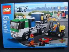 New LEGO CITY Recycling Truck 4206 Forklift Trash Bins Driver Minifigures NIB