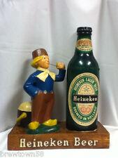 Heineken beer sign statue Dutch boy display Holland imported back bar figure ZG2