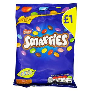 Nestlé Smarties - 12x87g - Hanging Bags - Best Before 31/08/21