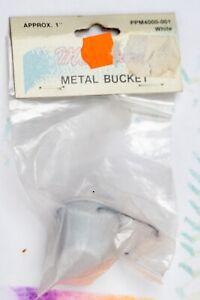 Dollhouse Miniature Kitchen Diorama Vintage White Metal Bucket Farm Garden Milk