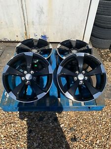 """18"""" New RS3 Style Alloy Wheels Only Black/Polished to fit Audi A3 (2004-onwards)"""