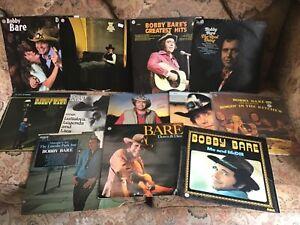 BOBBY BARE 12 vinyl LPs !