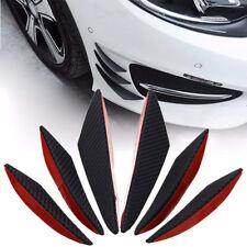 Carbon Fiber Pattern Car Front Bumper Lip Splitter Fins Body Spoiler Canard Chin