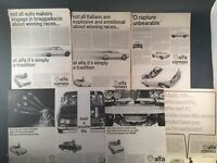 Lot of 7 ALFA ROMEO GIULIA  Original Vintage Full Page Print Advertisments