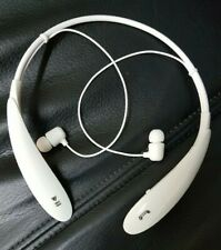 Neckband Bluetooth Earphone Headphone Wireless WHITE Gym Sports Travel USB