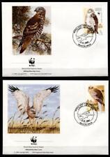WWF Greifvögel. 4 FDC. Malta 1991