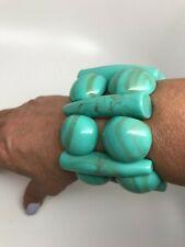 Stretch Bracelet Gorgeous Turquoise Resin