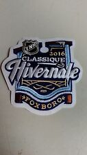 "NHL BOSTON BRUINS WINTER CLASSIC 2016 FOXBORO IRON ON PATCH 4""X 3 1/2"" (FRENCH)"