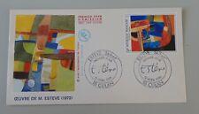France lettre 1er jour tableau 12 avril 1986 2413 Esteve