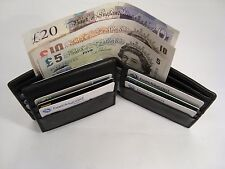 Soft Leather Credit Card Wallet with Extra Detachable Travel Pass Holder