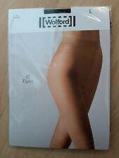 L//XL braune Strumpfhose NEU in OVP Wolford Sheer 15 Sandal 15 DEN Gr