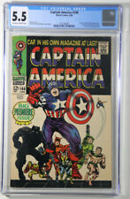 Captain America #100 CGC 5.5 Marvel 1968 Premiere Issue, Black Panther App