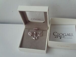Clogau Pendant Heart & Earrings Set Sterling Silver 9ct Welsh Rose Gold NEW
