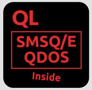 "5x Sinclair ""QL Inside"" PC Case Sticker 25x25mm, QXL, Q68, Aurora, Emulator usw."