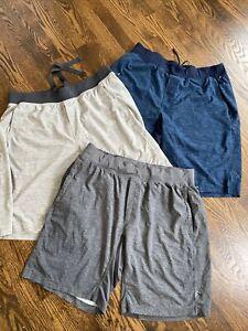 Lululemon T.H.E Short THE shorts pockets no liner mens size XL LOT of 3 pairs