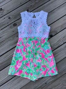 LILLY PULITZER Printed Lace ROMPER 6