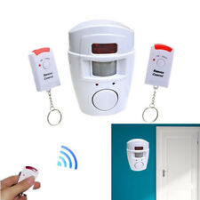 105dB Wireless Infrared Home Office Motion Sensor Alarm Security System Kit New
