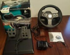Logitech DriveFX Racing steering wheel with foot pedal-Xbox 360