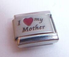 I LOVE MY MOTHER Italian Charm - MUM RED HEART 9mm Classic Starter Bracelets