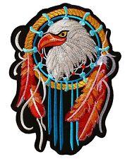 XXL Aufnäher Adler 25 x 18,5 cm,Motorrad Indianer Biker Cowboy Patch Traumfänger