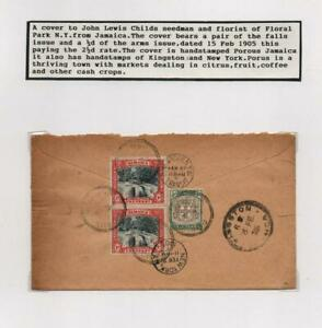 JAMAICA: 1905 Cover, Postmark Interest - Ex-Old Time Collection - Page (42504)