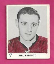 RARE 1965-66 COCA COLA HAWKS PHIL ESPOSITO  CARD