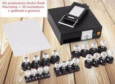 Kit produzione timbri flash Macchina timbri + materiali consumo