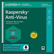 Computer Antivirus 2 Users 2 Years Single Key Email Delivery in 2 Hours No CD