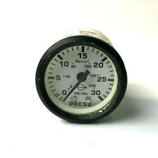 "12903 Faria Euro White 2"" Water Pressure Gauge Kit 30 PSI"