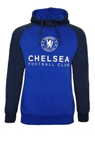 Official Chelsea FC Football Pullover Hoodie Mens Large CHH22 New Free Postage