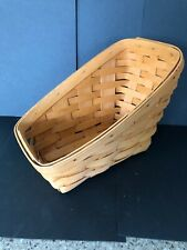 1996 Longaberger Small Vegetable Basket - Warm Brown/Slanted