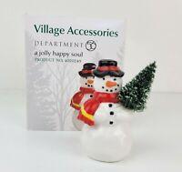 Dept 56 Christmas Village Accessory A Jolly Happy Soul Frosty Snowman 4020249