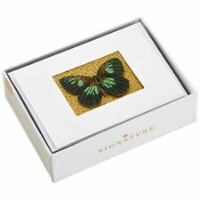 Hallmark Note Cards by Signature Box of 8 ~ 3D Butterfly w/Gold Glitter Backing