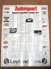 Autosport 1977 NATIONAL COMPETITION CALENDAR - Rally, F3, Club Meetings etc