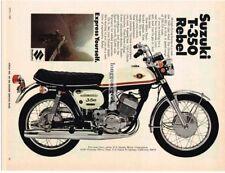 1969 Suzuki T-350 Rebel Motorcycle Vtg Print Ad