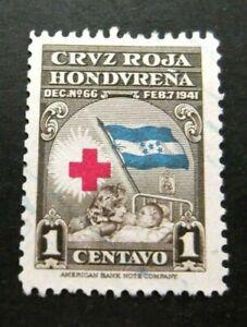 Honduras-1941-1c Red Cross issue-Used