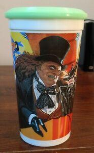 Batman Returns Penguin McDonald's Cup & Green Frisbee Disc Lid Coca Cola 1992
