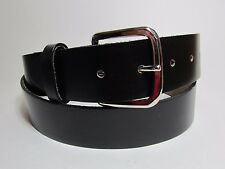 "Men 100% OIL TAN Genuine Leather Snap Buckle Black Belt Made in USA 56"" #1288B"