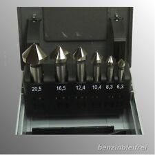 Kegelsenker HSS 6,3 8,3 10,4 12,4 16,5 20,5mm Satz 6tlg. RUKO DIN335 Form C 90°