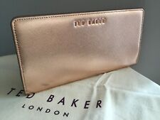 Ted Baker Rose Gold Zip Around Leather Purse BNWTS & Dust Bag Rrp £75