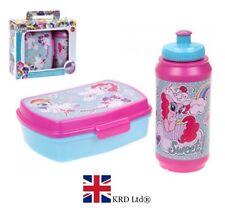 2PC MY LITTLE PONY BOX & BOTTLE SET Kids Lunch Sandwich School Christmas Gift UK