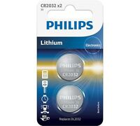 Philips CR2032 Coin Cell Battery / Pack of 2 / 3V / Keys Watches Calculators Etc