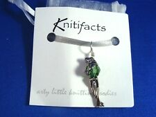 Knitifacts FROG Stitch Marker or Pendant--Sterling Silver